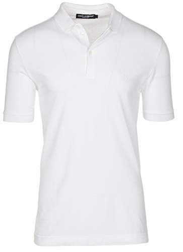 Dolce & Gabbana Men's White Crown 'Corona' Short Sleeve Polo Shirt