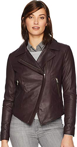 Marc New York by Andrew Marc Women's Bayside Leather Scuba Jacket
