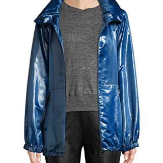 Akris Womens Dearest Silk Jacket, 10 Blue