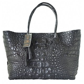 Authentic M Crocodile Skin Womens Bag Tote Hobo Huge Handbag