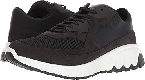 Neil Barrett Men's Nubuck/Mesh Urban Runner Sneaker Black/White