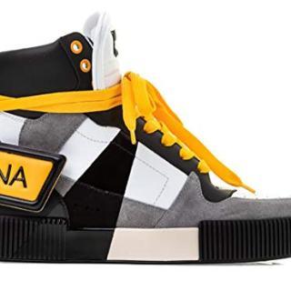 Dolce e Gabbana Men's White Leather Hi Top Sneakers