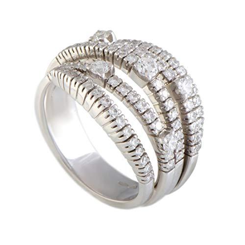 Damiani Notte di San Lorenzo 18K White Gold Full Diamond Bombe Ring