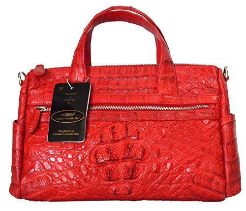 Authentic M Crocodile Skin Womens Hornback Shoulder Bag