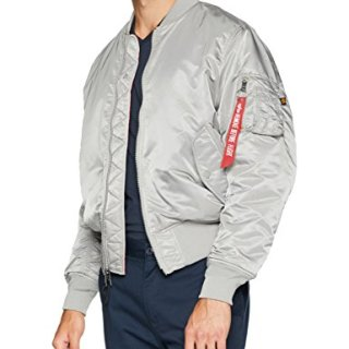 Alpha Industries Men's MA-1 Blood CHIT MID Length Zip Flight Jacket