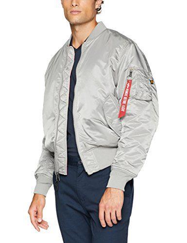 Alpha Industries Men's MA-1 Blood CHIT MID Length Zip Flight Jacket