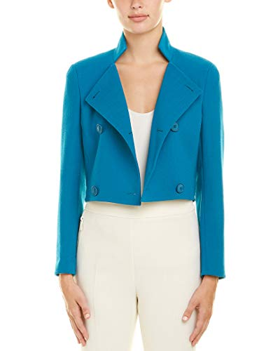 Akris Womens Wool Jacket, 14, Blue