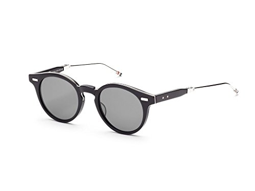 THOM BROWNE Matte Black-Silver w/ Dark Grey-AR Sunglasses