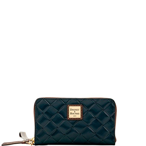 Dooney & Bourke City Woven Zip Around Wallet/Wristlet Black