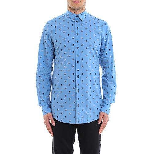 Dolce e Gabbana Men's Light Blue Cotton Shirt