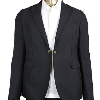 Gucci Formal 1 Button Charcoal Wool/Mohair Evening Jacket