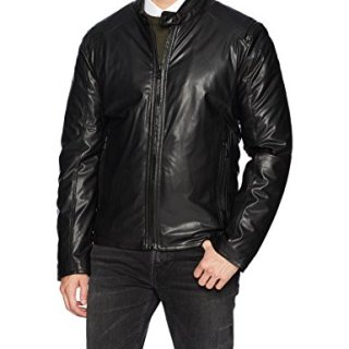 Marc New York by Andrew Marc Men's Kingsbury Faux Lamb Moto Jacket