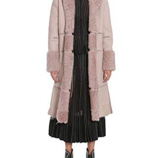 Alexander McQueen Women's Pink Leather Coat
