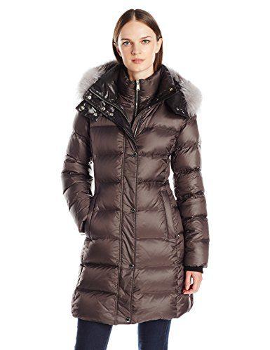 Andrew Marc Women's Skylar Down/Feather Long Coat
