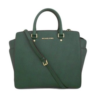 Michael Kors Selma Large NS Tote Saffiano Malachite Leather