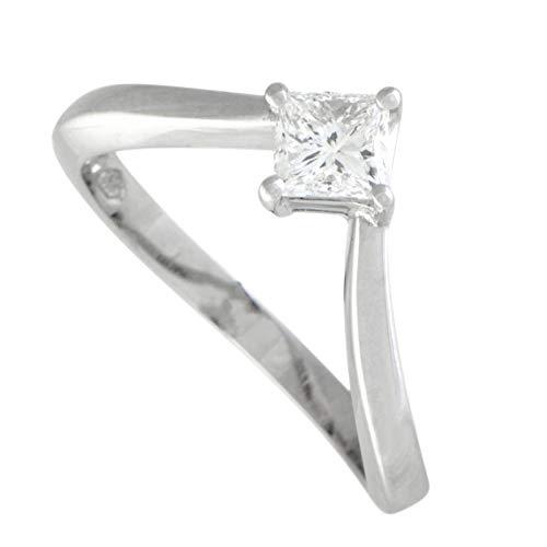 Damiani Platinum Invisible Setting Diamond Engagement Ring