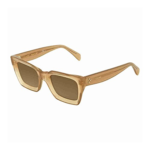 Celine Plastic Square Sunglasses Beige (70 brown lens)