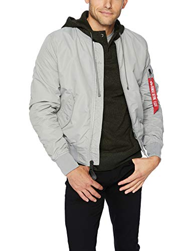 Alpha Industries Men's L-2B Dragonfly Blood CHIT MID Length Flight Jacket