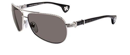 Chrome Hearts - The Beast I - Sunglasses (Shiny Silver-Black, Dark Gray)