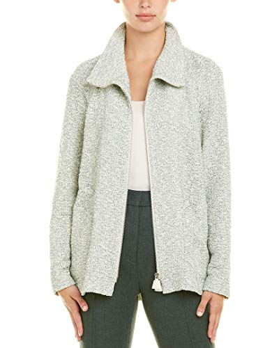 Akris Womens Silk-Trim Jacket, 8, White