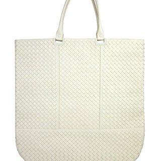 Bottega Veneta Woven White Leather Large Tote Bag