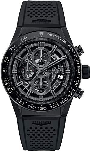 TAG Heuer Carrera Black Skeleton Dial 45mm Men's Watch