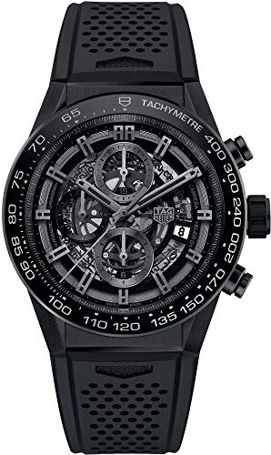 TAG Heuer Carrera Black Skeleton Dial 45mm Men's Watch