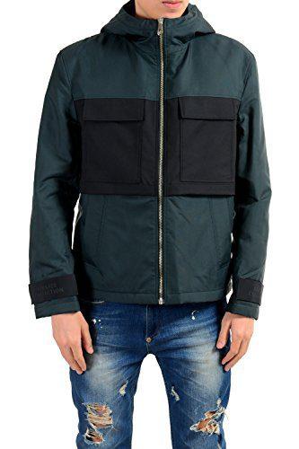 Versace Collection Men's Full Zip Hooded Lined Windbreaker Jacket