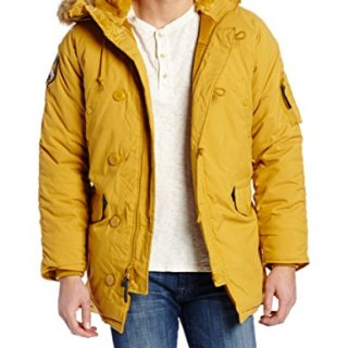 Alpha Industries Men's Altitude Oxford Nylon Parka, Tumbleweed, Large