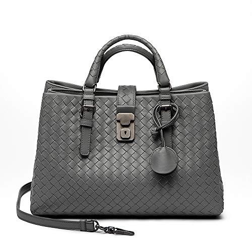 BV-INTRECCIATO CALF SMALL ROMA BAG Top-Handle Bags