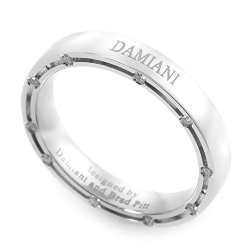 Damiani D.Side Brad Pitt 18K White Gold 20-Diamond Band Ring