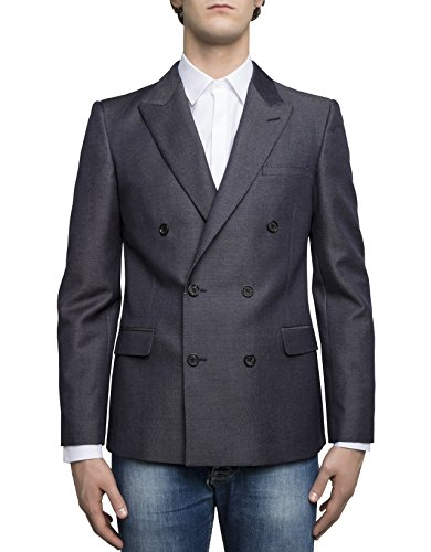 Alexander McQueen Men's Blue Wool Blazer