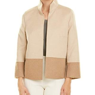 Akris Womens Camel & Wool-Blend Jacket, 10, Beige