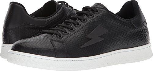 Neil Barrett Men's Tonal Thunderbolt Tennis Sneaker Black/White