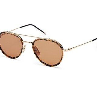 Sunglasses THOM BROWNE Tokyo Tortoise-12K Gold w/ Dark Brown-AR