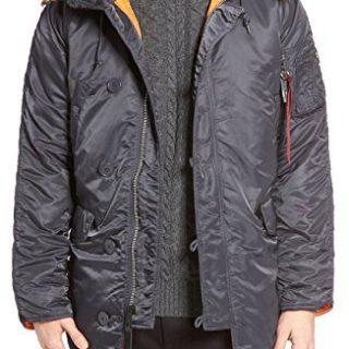 Alpha Industries Men's Slim-Fit Parka Coat