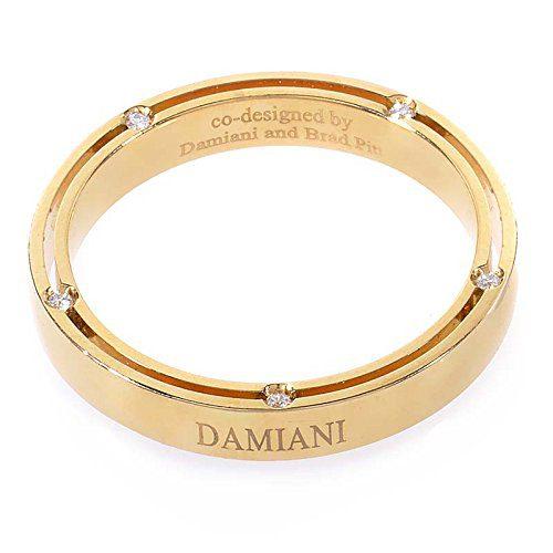 Damiani D.Side Brad Pitt 18K Yellow Gold 10 Diamonds Band Ring