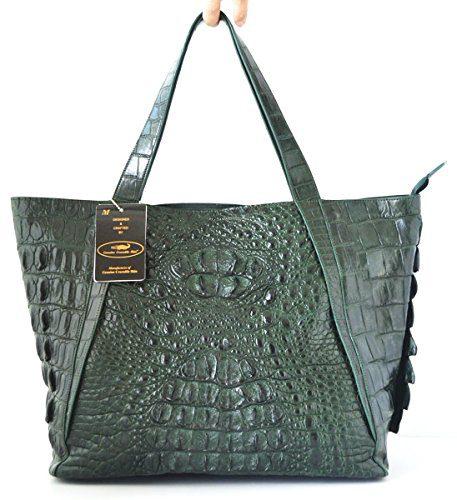 Authentic M Crocodile Skin Womens Hornback Leather Bag