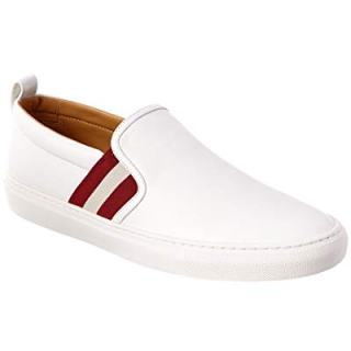 BALLY Herald Leather Sneaker, 8 Us, White