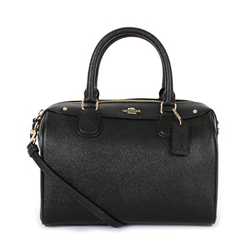 Coach Crossgrain Leather Mini Bennett Crossbody Satchel Black