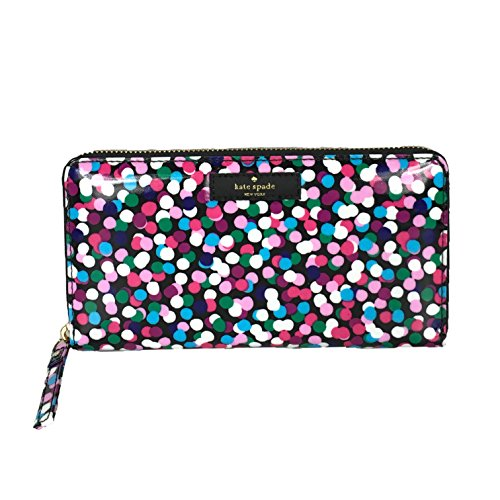 Kate Spade Dance Party Dot Daycation Neda Continental Zip Wallet