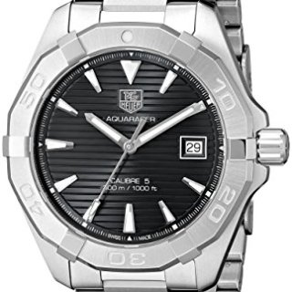 TAG Heuer Men's Aquaracer Analog Display Swiss Automatic Silver Watch