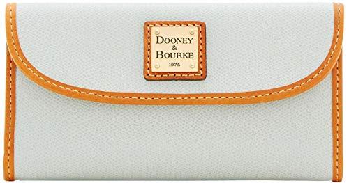 Dooney & Bourke Women's Leather Collins Continental Clutch Wallet Ice Blue