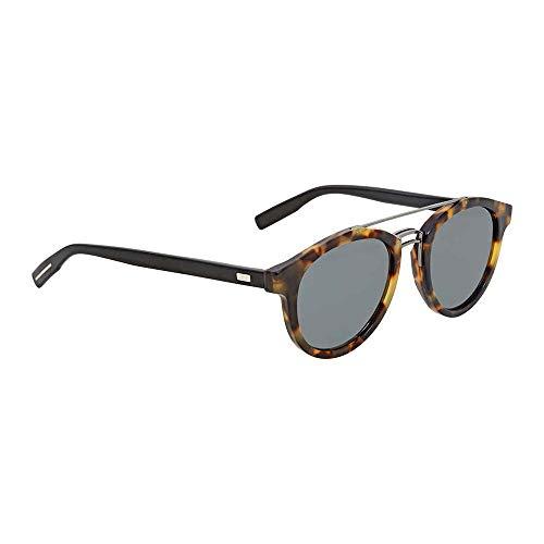 Dior Homme Light Havana Black Round Sunglasses