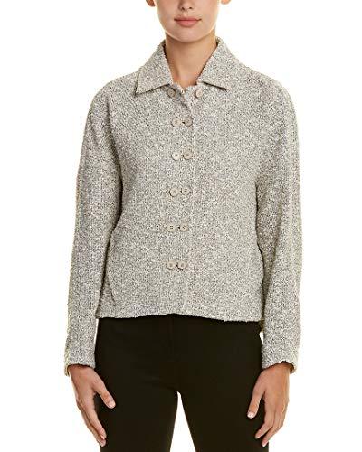 Akris Womens Silk-Trim Jacket, 10, White