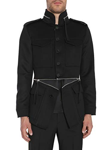 Alexander McQueen Men's Black Wool Outerwear Jacket