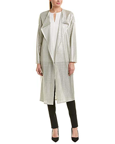 Akris Womens Silk Coat, 10, White