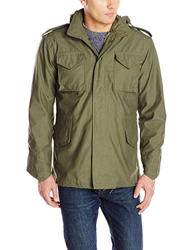 Alpha Industries Men's Slim Fit Field Coat, Olive, X-Large