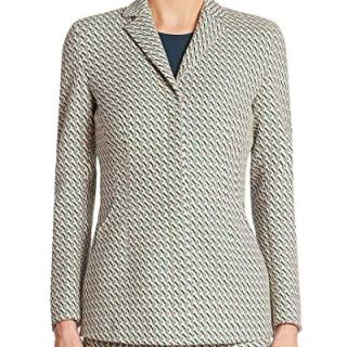 Akris Womens Punto Helia Graphic Jacquard Jacket, 10