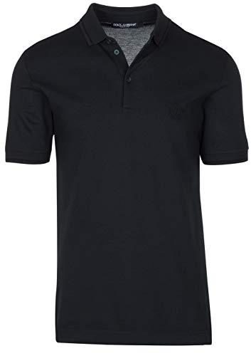 Dolce & Gabbana Men's Dark Green Crown 'Corona' Short Sleeve Polo Shirt